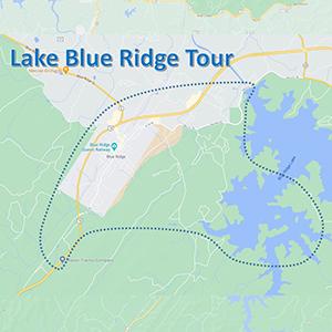 lake blue ridge map